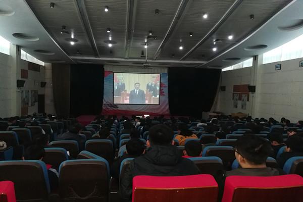 建筑工程学院组织师生收看庆祝改革开放40周年大会